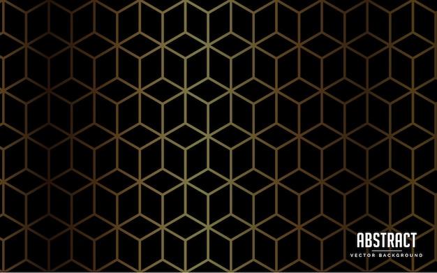Sfondo astratto colore nero di lusso e colore oro moderno Vettore Premium