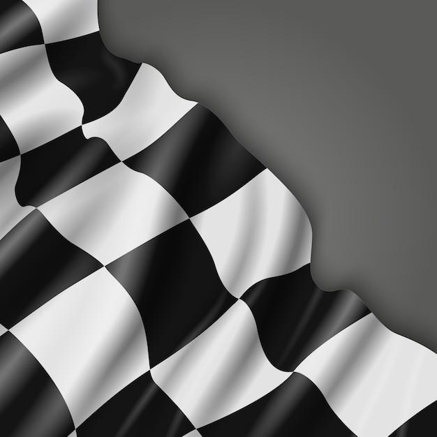Sfondo astratto con bandiera da corsa a scacchi Vettore Premium