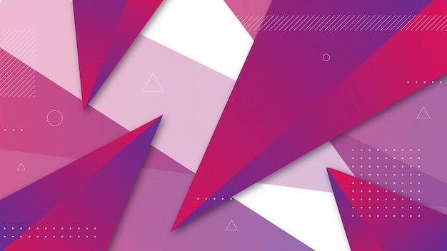 Sfondo astratto con elementi triangolari ombreggiati. Vettore Premium