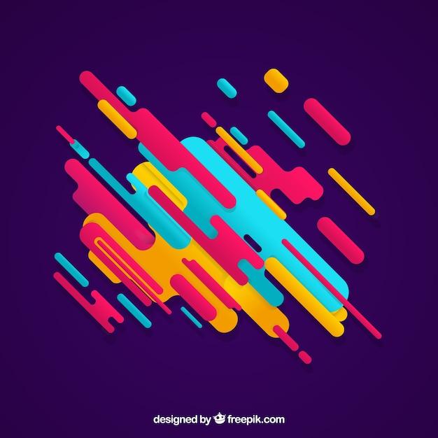 Sfondo astratto con forme arrotondate colorate Vettore gratuito