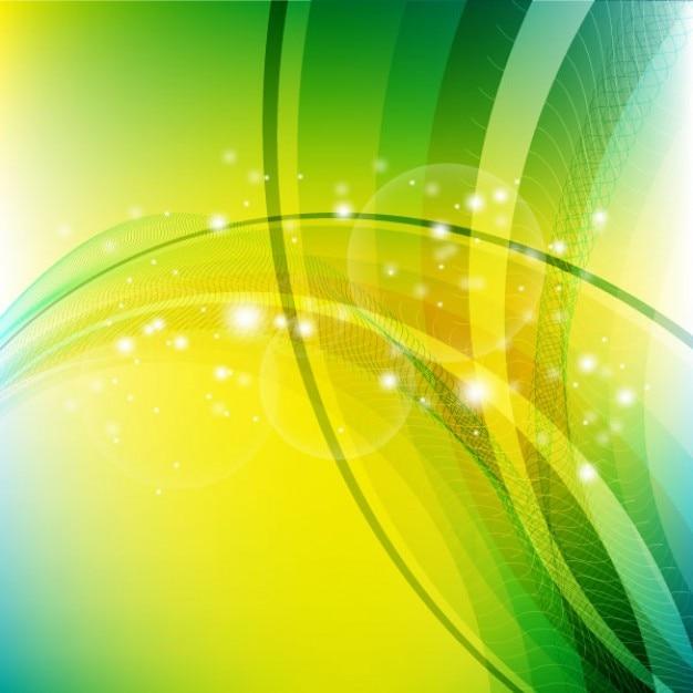 Sfondo Astratto Con Forme Di Colore Giallo E Verde Chiaro