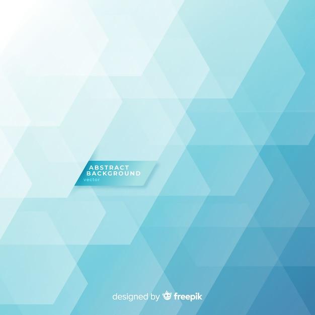 Sfondo astratto con forme geometriche blu Vettore gratuito