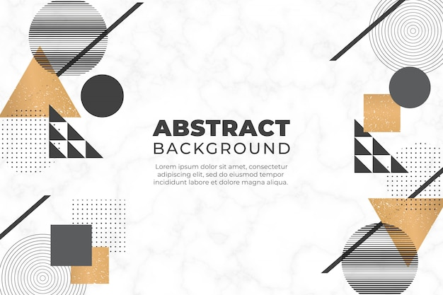 Sfondo astratto con forme geometriche Vettore gratuito