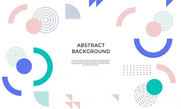 Sfondo astratto con forme geometriche Vettore Premium