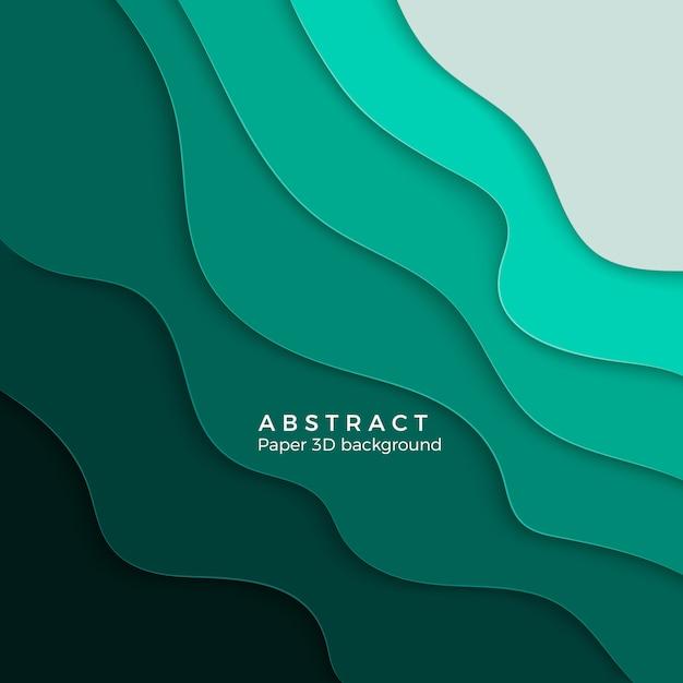 Sfondo astratto con forme tagliate di carta bianca. layout per presentazioni aziendali, volantini, poster. illustrazione Vettore Premium