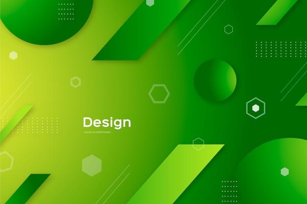Sfondo astratto con forme verdi Vettore gratuito