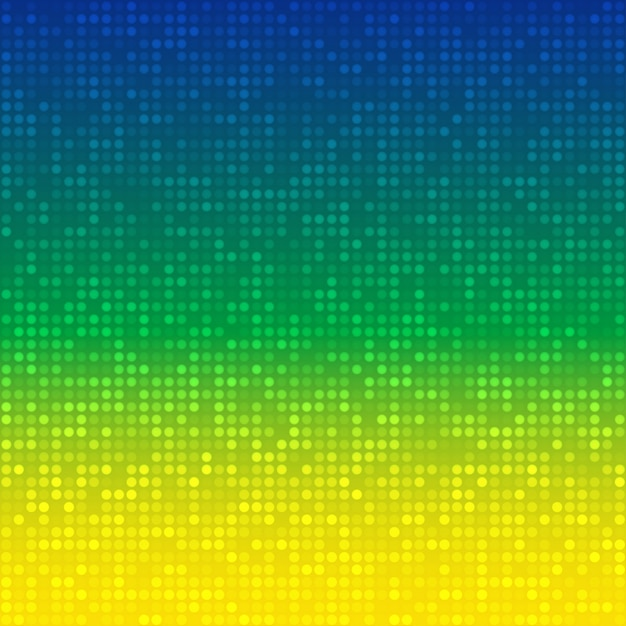 Sfondo astratto con i colori della bandiera del brasile Vettore Premium