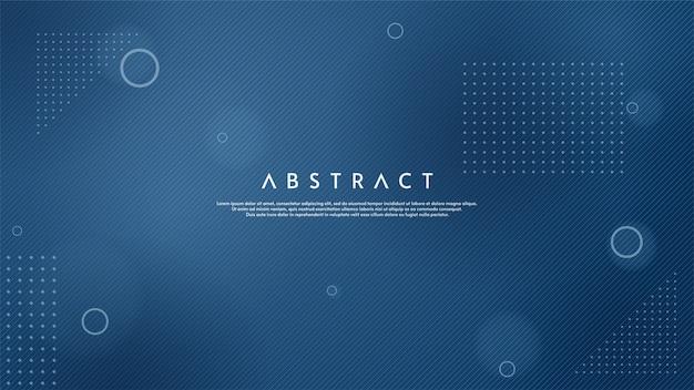 Sfondo astratto con illustrazione di sottili linee blu. Vettore Premium