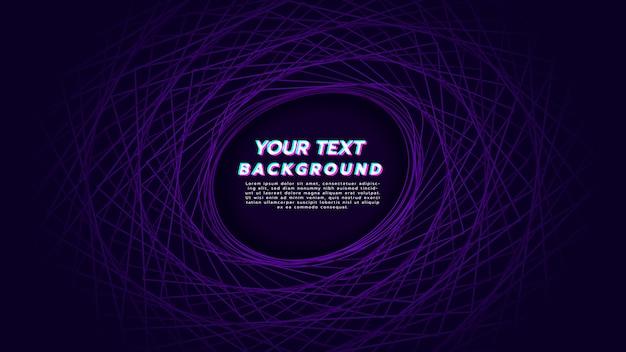 Sfondo astratto con rotazione lineare per essere cerchio in colore viola. Vettore Premium