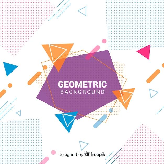 Sfondo astratto con triangoli colorati Vettore gratuito