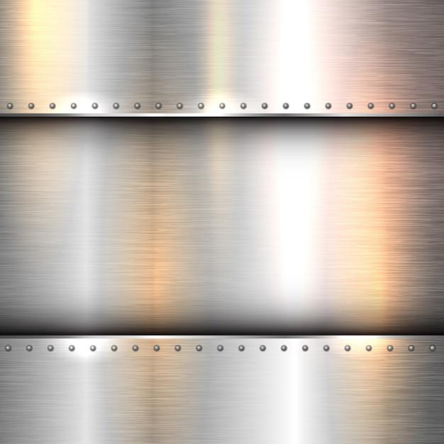 Sfondo astratto con una struttura di metallo lucido Vettore gratuito