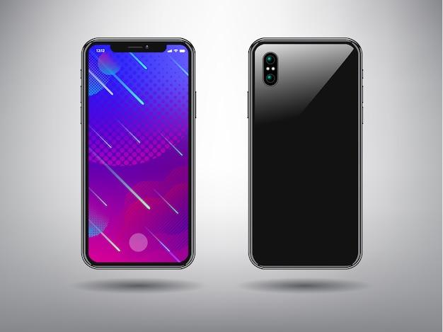 Sfondo astratto di colore completo per modello di telefono intelligente Vettore Premium
