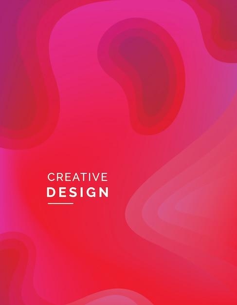 Sfondo astratto di colore rosso Vettore Premium