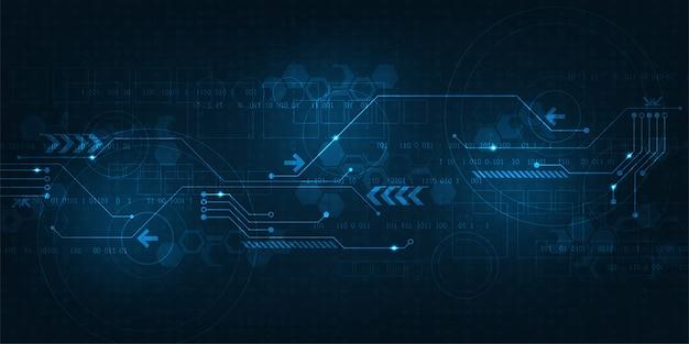 Sfondo astratto di lavoro di tecnologia digitale. Vettore Premium