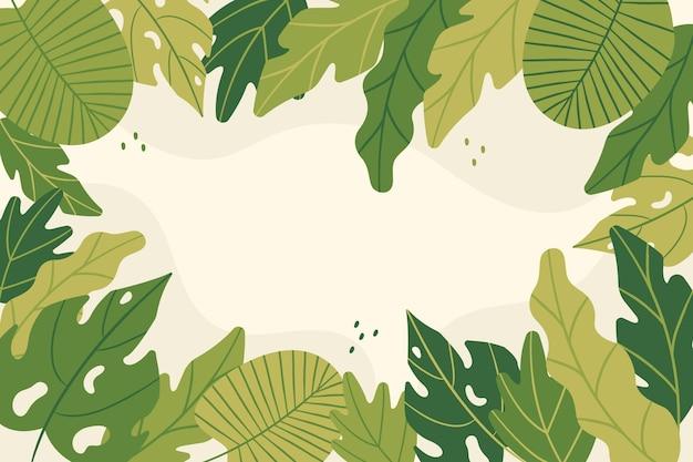 Sfondo astratto foglie tropicali Vettore gratuito