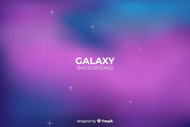Sfondo astratto galassia sfumatura Vettore gratuito