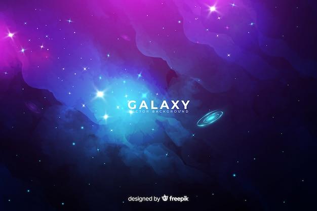 Sfondo astratto galassia Vettore gratuito