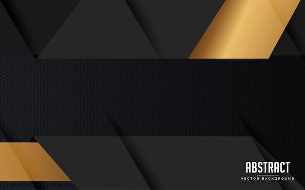 Sfondo astratto geometrico di colore nero e grigio moderno Vettore Premium