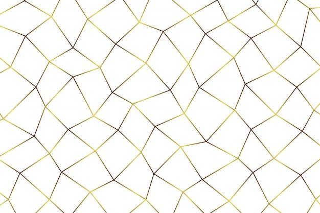 Sfondo astratto geometrico dorato. Vettore Premium