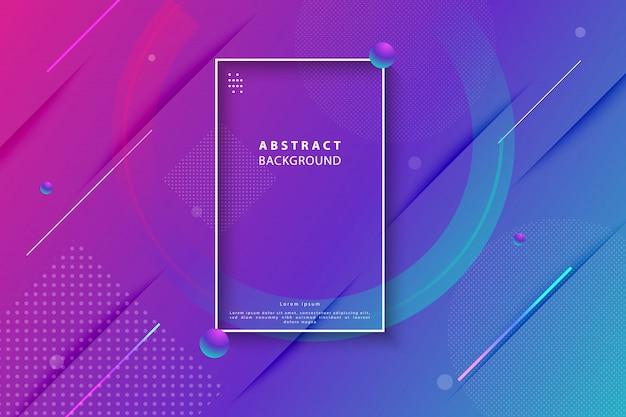 Sfondo astratto geometrico sfumato colorato Vettore Premium