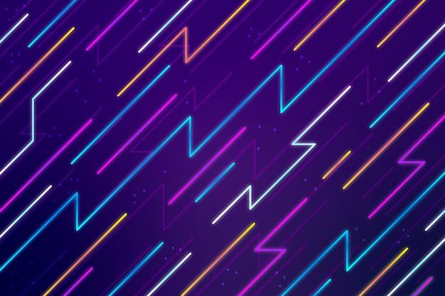 Sfondo astratto linee al neon Vettore gratuito