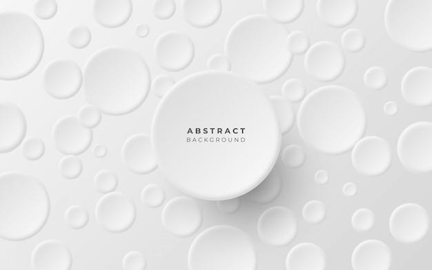 Sfondo astratto minimalista con cerchi Vettore gratuito