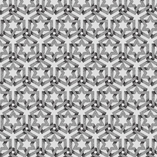 Sfondo astratto motivo geometrico punteggiato. Vettore gratuito