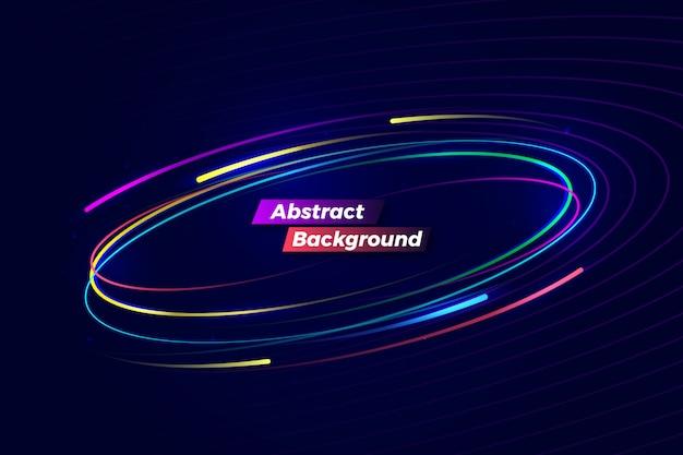 Sfondo astratto movimento colorato digitale Vettore Premium