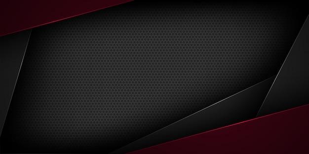Sfondo astratto nero con sovrapposizione Vettore Premium