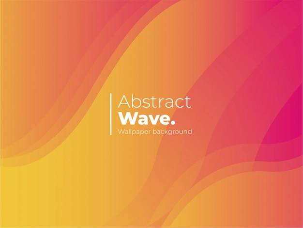 Sfondo astratto onda con forme colorate Vettore gratuito