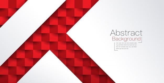 Sfondo astratto rosso e bianco Vettore Premium