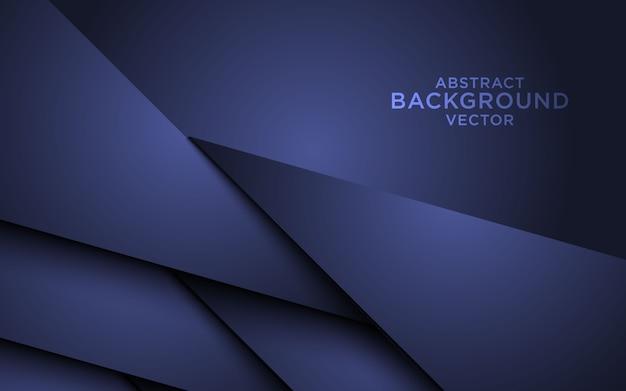 Sfondo astratto scuro con strati di sovrapposizione Vettore Premium