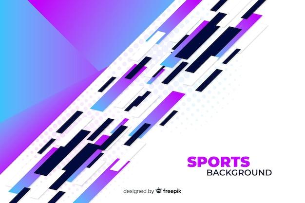 Sfondo astratto sport in tonalità viola e bianco Vettore gratuito