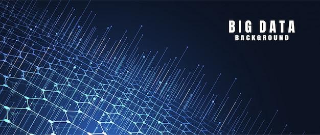 Sfondo astratto tecnologia con grandi dati. connessione internet Vettore Premium