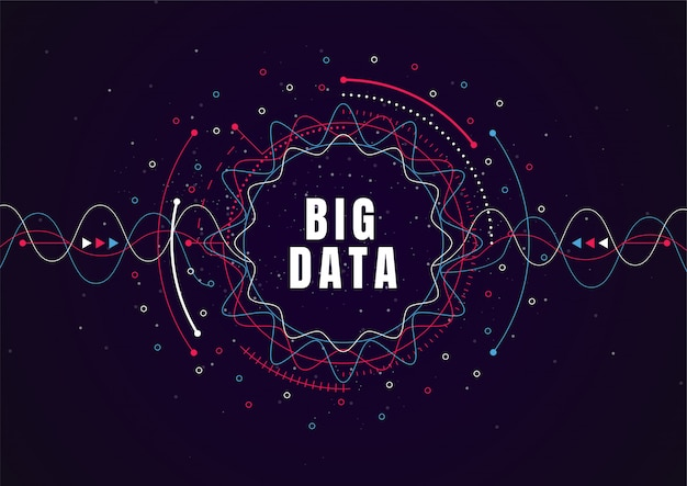 Sfondo astratto tecnologia con grandi quantità di dati. connessione internet Vettore Premium