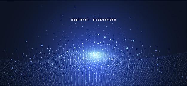 Sfondo astratto tecnologia con grandi quantità di dati Vettore Premium