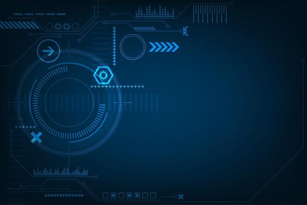 Sfondo astratto tecnologia Vettore Premium