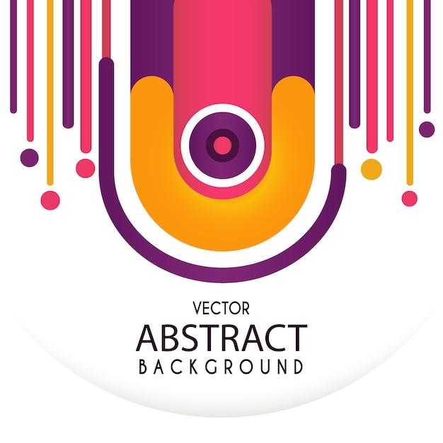 Sfondo astratto vettoriale astratto con forme arrotondate Vettore Premium