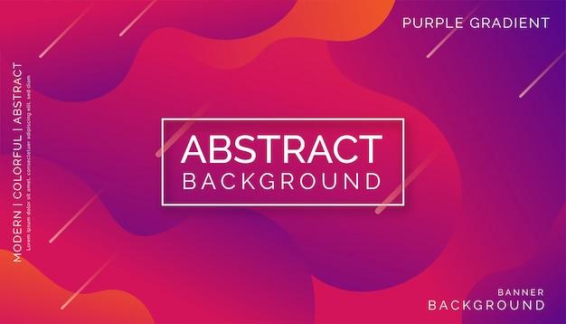 Sfondo astratto viola, moderno design dinamico colorato Vettore Premium
