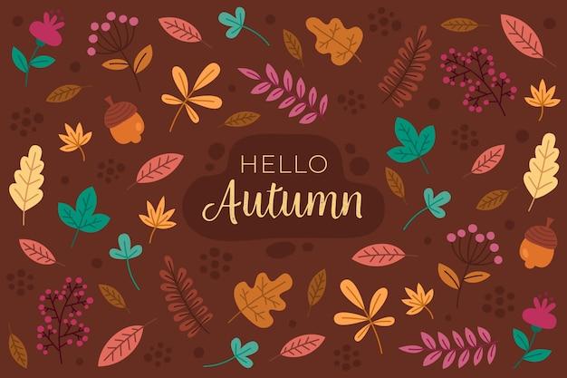 Sfondo autunno in design piatto Vettore gratuito