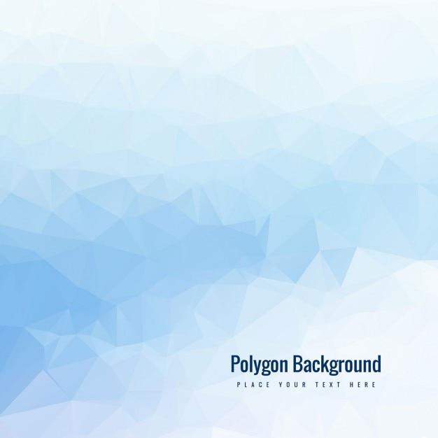 Sfondo azzurro poligonale Vettore gratuito