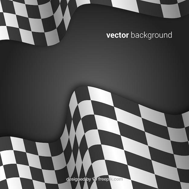 Sfondo bandiera a scacchi con un design realistico Vettore gratuito