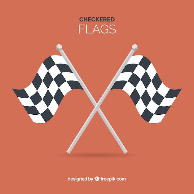 Sfondo bandiera a scacchi Vettore gratuito
