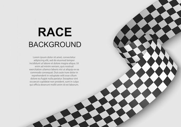 Sfondo bandiera a scacchi Vettore Premium