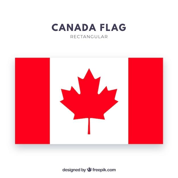 Sfondo bandiera canadese Vettore gratuito