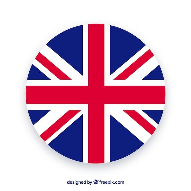 Sfondo bandiera del regno unito Vettore gratuito