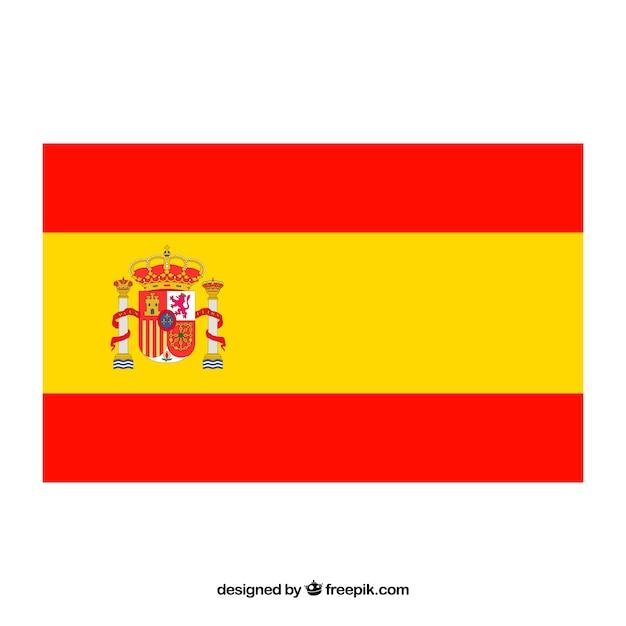 Sfondo bandiera spagnola Vettore gratuito