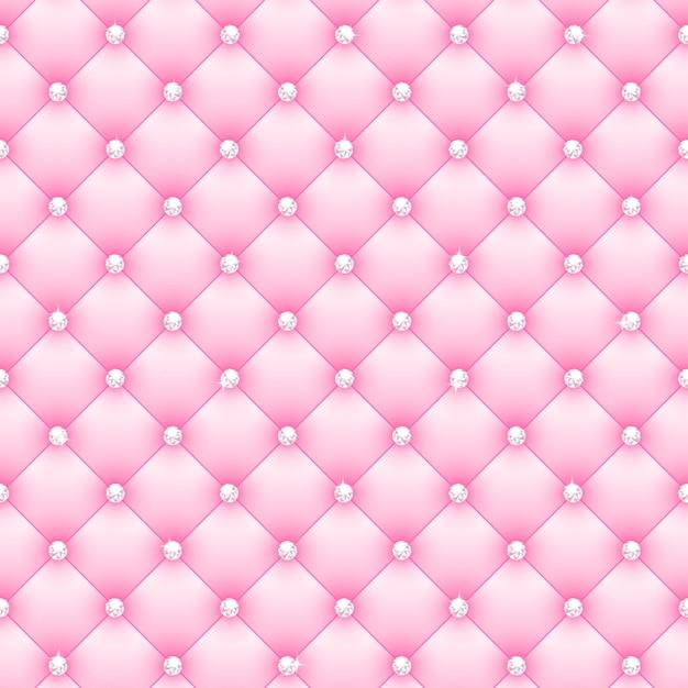 Sfondo bellissimo glamour rosa con diamanti Vettore Premium