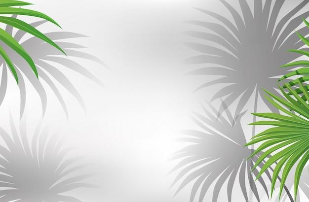 Sfondo bianco con alberi Vettore gratuito