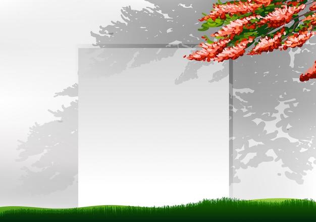 Sfondo bianco con albero Vettore gratuito